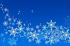 De achtergronden van sneeuwvlokken Stock Fotografie