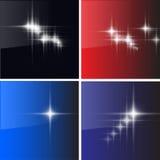 De achtergronden van sterren Stock Afbeeldingen
