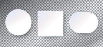 De achtergronden van Witboekkaders geplaatst malplaatje Royalty-vrije Stock Afbeeldingen