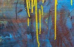 De achtergrondkleur laat vallen plonsen stock afbeelding