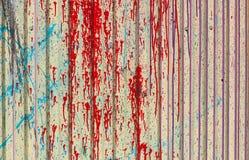 De achtergrondtextuur is multikleuren rode grijze groene gele blauwe grijs, metaalblad, een profiel Royalty-vrije Stock Fotografie