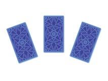 De achterkant van drie tarotkaarten royalty-vrije illustratie