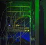De achterkantgegevens centreren gekleurde LEIDENE verlichting Stock Afbeeldingen