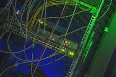 De achterkantgegevens centreren gekleurde LEIDENE verlichting Stock Fotografie