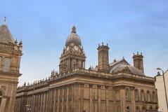 De AchterMening van het Stadhuis van Leeds Stock Afbeeldingen