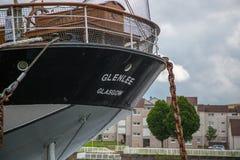 De achtersteven van Glenlee in Glasgow Riverside Museum, Schotland Stock Foto