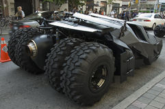 De achterwielen van Batmobile Stock Foto's