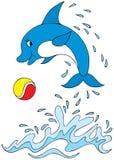 De acrobaat van de dolfijn royalty-vrije illustratie