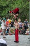 De acrobaten in Iowa verklaren Markt Royalty-vrije Stock Fotografie