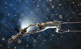 De acrobaten van de lucht stock afbeelding