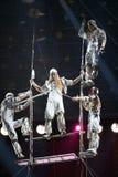 De acrobaten van de lucht Royalty-vrije Stock Fotografie
