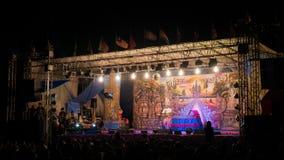 De Acteur Dancing van Thais Kambodja Traditonal Dramatische Performan royalty-vrije stock foto