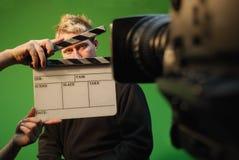 De acteur van de film Stock Foto's