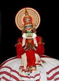De acteur van de tradionaldans van Kathakali Stock Foto's