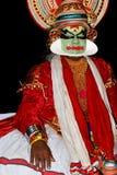 De acteur van de tradionaldans van Kathakali Stock Foto