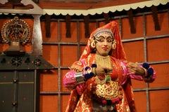 De acteur van de tradionaldans van Kathakali Kochi (Cochin), India stock foto's