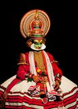 De acteur van Kathakali in India Stock Foto's