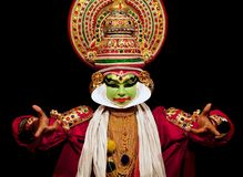 De acteur van Kathakali in India Stock Foto