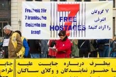De actie ( honger strike) Iraanse dissidenten royalty-vrije stock foto's