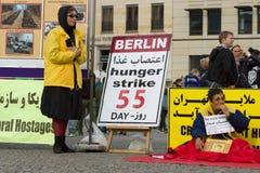 De actie ( honger strike) Iraanse dissidenten royalty-vrije stock afbeeldingen