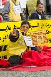 De actie ( honger strike) Iraanse dissidenten stock afbeelding
