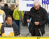 De actie ( honger strike) Iraanse dissidenten stock fotografie