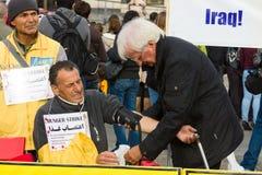 De actie ( honger strike) Iraanse dissidenten stock foto's