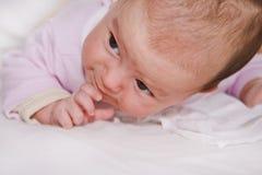 De actie van de baby.:) Stock Afbeeldingen