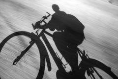 De actie van de fiets stock foto