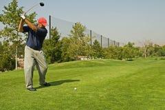 De Actie van de golfclub Stock Foto