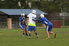 De Actie van de lacrosse Stock Fotografie