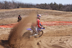 De actie van de motocross Stock Afbeelding