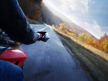 De actie van de motorfiets Stock Foto's