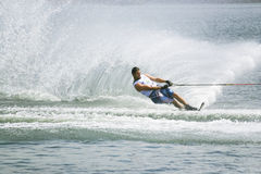 De Actie van de Slalom van mensen - Aaron Larkin Stock Afbeeldingen