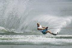 De Actie van de Slalom van mensen - Visser Jodi Stock Foto
