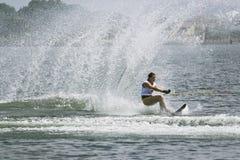 De Actie van de Slalom van vrouwen - Anais Amade Stock Afbeelding