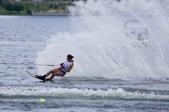 De Actie van de Slalom van vrouwen - Karen Truelove Royalty-vrije Stock Fotografie