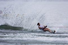 De Actie van de Slalom van vrouwen - Karen Truelove Royalty-vrije Stock Afbeelding