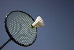 De Actie van het badminton royalty-vrije stock foto