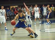 De Actie van het basketbal Stock Foto