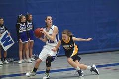 De Actie van het basketbal Royalty-vrije Stock Fotografie