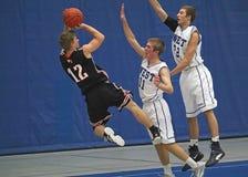 De Actie van het basketbal Stock Afbeeldingen