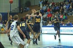 De Actie van het basketbal Royalty-vrije Stock Foto