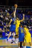 De actie van het basketbal Royalty-vrije Stock Foto's