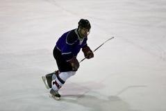 De Actie van het ijshockey stock afbeeldingen