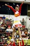 De Actie van het Kampioenschap van Cheerleading Stock Fotografie