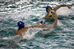 De Actie van het Polo van het water Royalty-vrije Stock Foto's