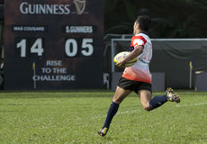 De Actie van het rugby Stock Fotografie