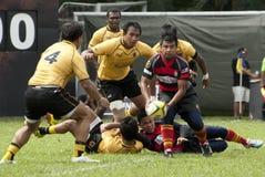 De Actie van het rugby Stock Afbeeldingen