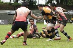De Actie van het rugby Royalty-vrije Stock Afbeelding